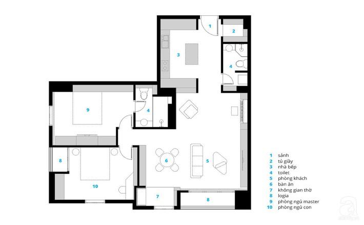 Cùng xem căn hộ 127m² có tổng chi phí thi công và hoàn thiện là 1,3 tỷ đồng ở Hà Nội này đặc biệt như thế nào - Ảnh 3.