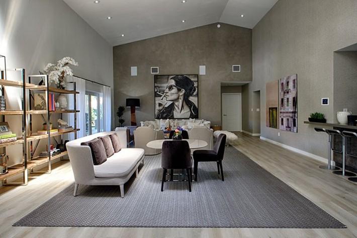 Muốn phòng khách màu xám vừa đẹp vừa sang thì bạn nhất định phải biết đến điều này - Ảnh 1.