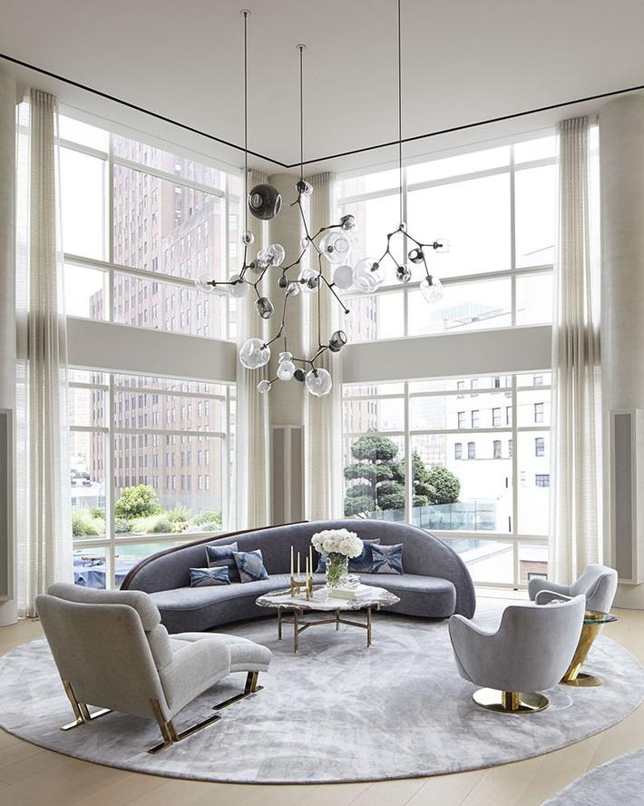 Muốn phòng khách màu xám vừa đẹp vừa sang thì bạn nhất định phải biết đến điều này - Ảnh 2.