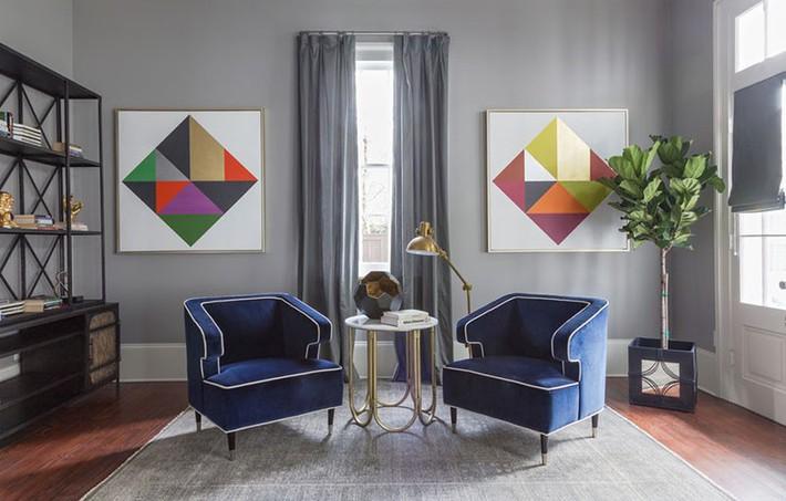 Muốn phòng khách màu xám vừa đẹp vừa sang thì bạn nhất định phải biết đến điều này - Ảnh 4.