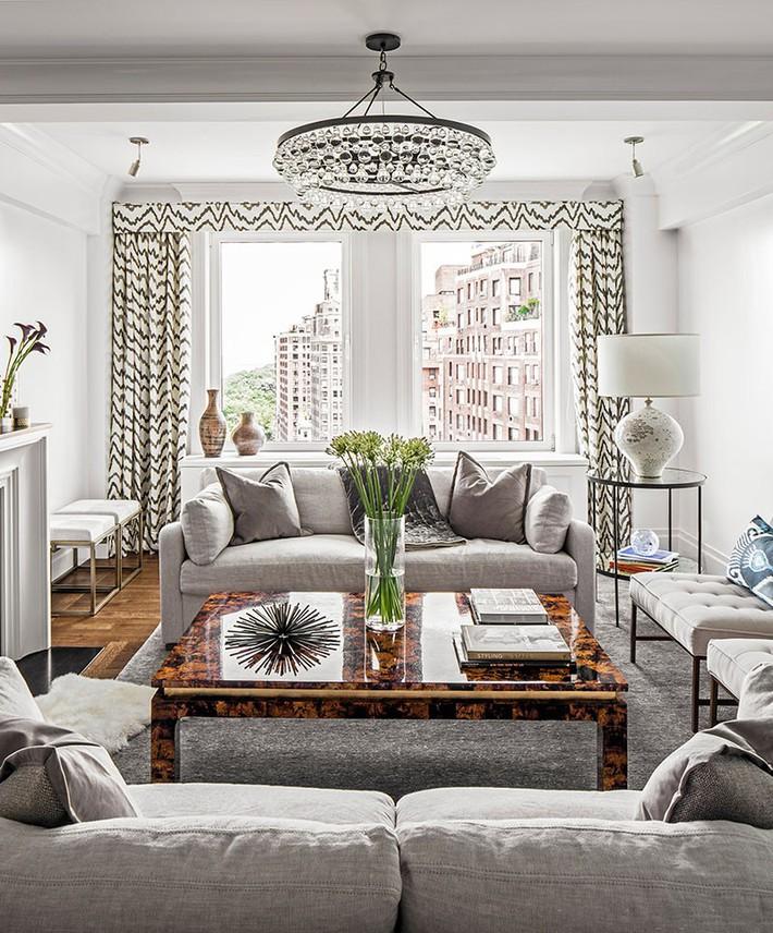 Muốn phòng khách màu xám vừa đẹp vừa sang thì bạn nhất định phải biết đến điều này - Ảnh 5.