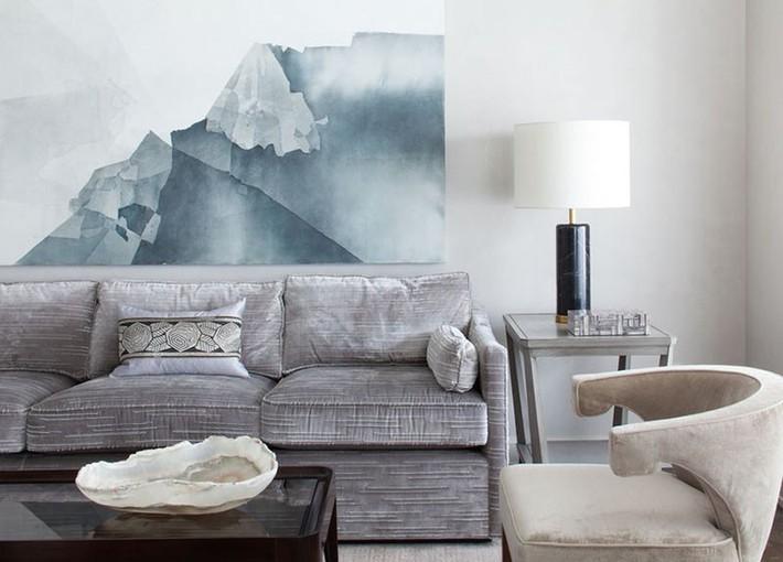 Muốn phòng khách màu xám vừa đẹp vừa sang thì bạn nhất định phải biết đến điều này - Ảnh 6.