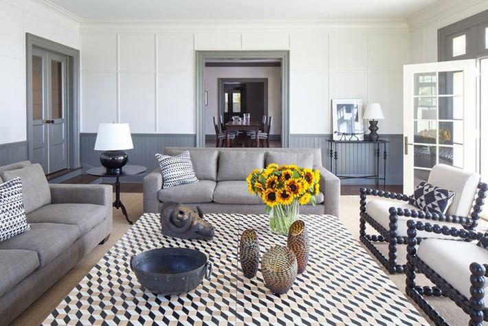 Muốn phòng khách màu xám vừa đẹp vừa sang thì bạn nhất định phải biết đến điều này - Ảnh 7.
