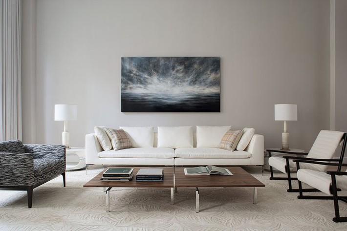 Muốn phòng khách màu xám vừa đẹp vừa sang thì bạn nhất định phải biết đến điều này - Ảnh 9.