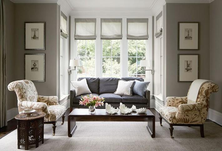 Muốn phòng khách màu xám vừa đẹp vừa sang thì bạn nhất định phải biết đến điều này - Ảnh 11.