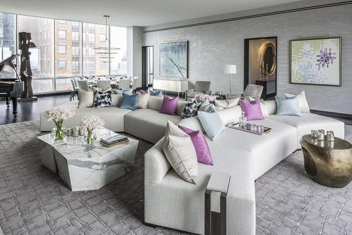 Muốn phòng khách màu xám vừa đẹp vừa sang thì bạn nhất định phải biết đến điều này - Ảnh 12.