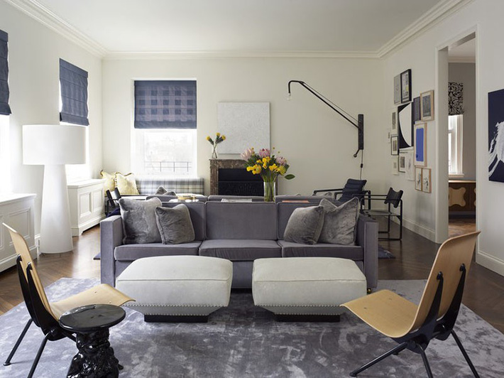 Muốn phòng khách màu xám vừa đẹp vừa sang thì bạn nhất định phải biết đến điều này - Ảnh 13.