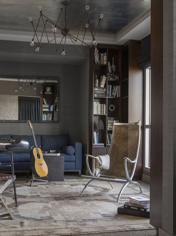 Muốn phòng khách màu xám vừa đẹp vừa sang thì bạn nhất định phải biết đến điều này - Ảnh 14.