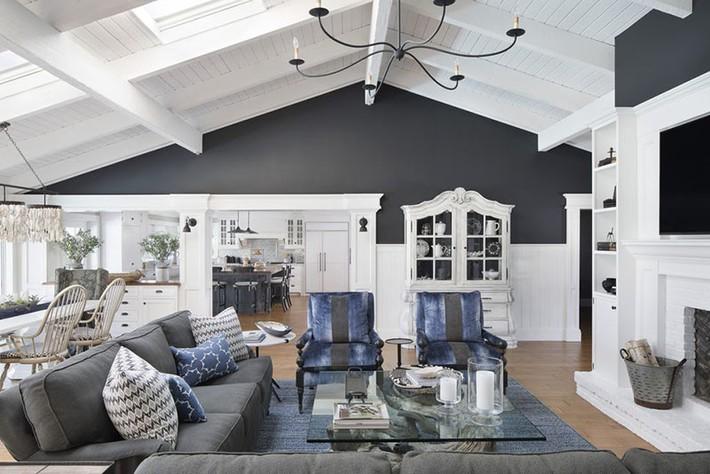 Muốn phòng khách màu xám vừa đẹp vừa sang thì bạn nhất định phải biết đến điều này - Ảnh 15.
