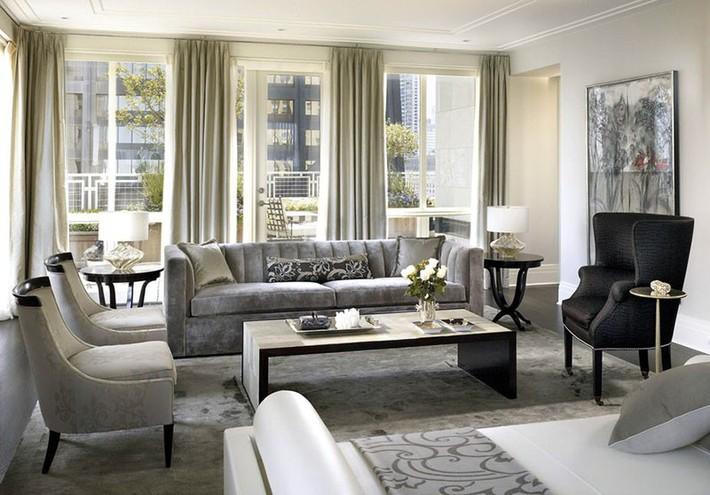 Muốn phòng khách màu xám vừa đẹp vừa sang thì bạn nhất định phải biết đến điều này - Ảnh 16.
