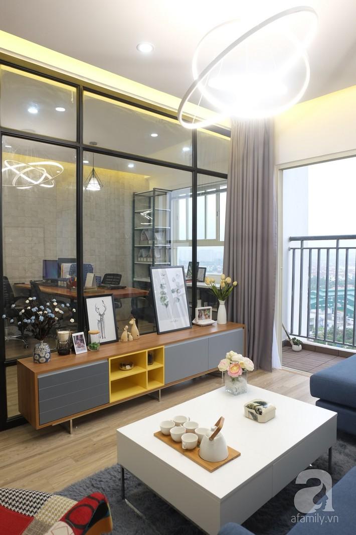 Căn hộ hạ gục mọi ánh nhìn nhờ thiết kế tường kính sáng tạo, đa chức năng ở Long Biên, Hà Nội - Ảnh 5.