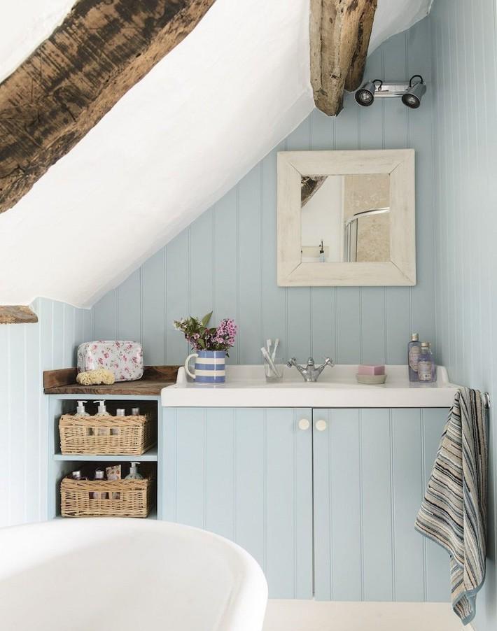 Tận dụng gác mái làm phòng tắm, ý tưởng thiết kế vừa đẹp vừa độc đáo ngại gì mà không thử - Ảnh 13.