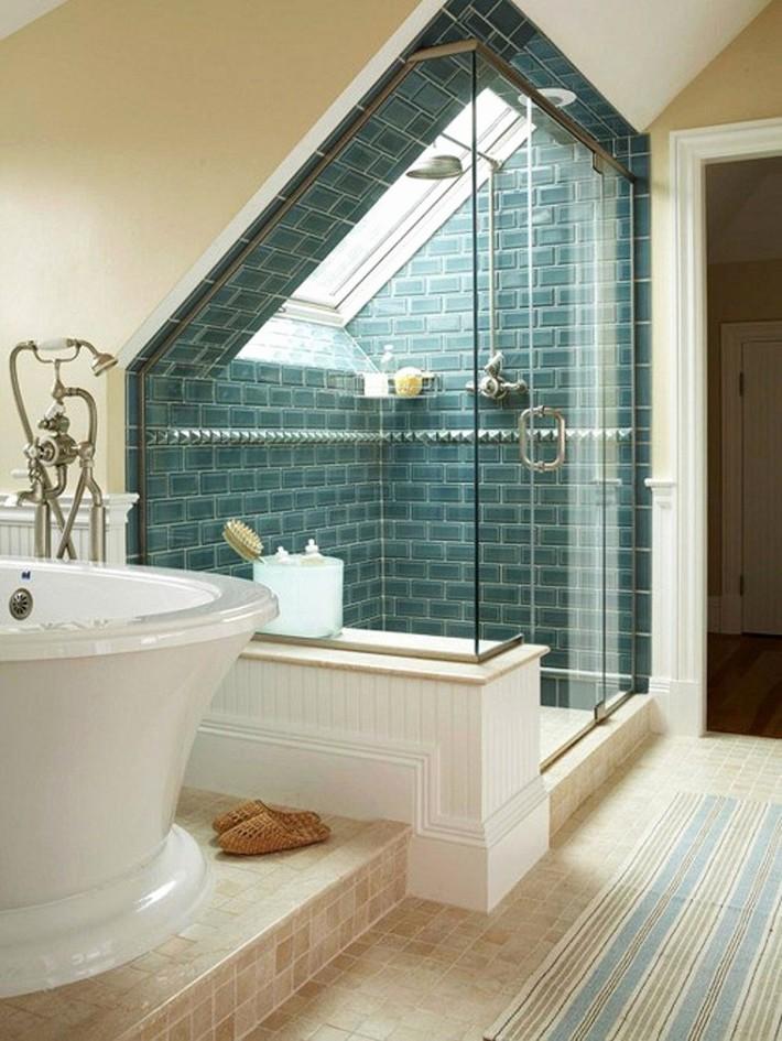 Tận dụng gác mái làm phòng tắm, ý tưởng thiết kế vừa đẹp vừa độc đáo ngại gì mà không thử - Ảnh 15.