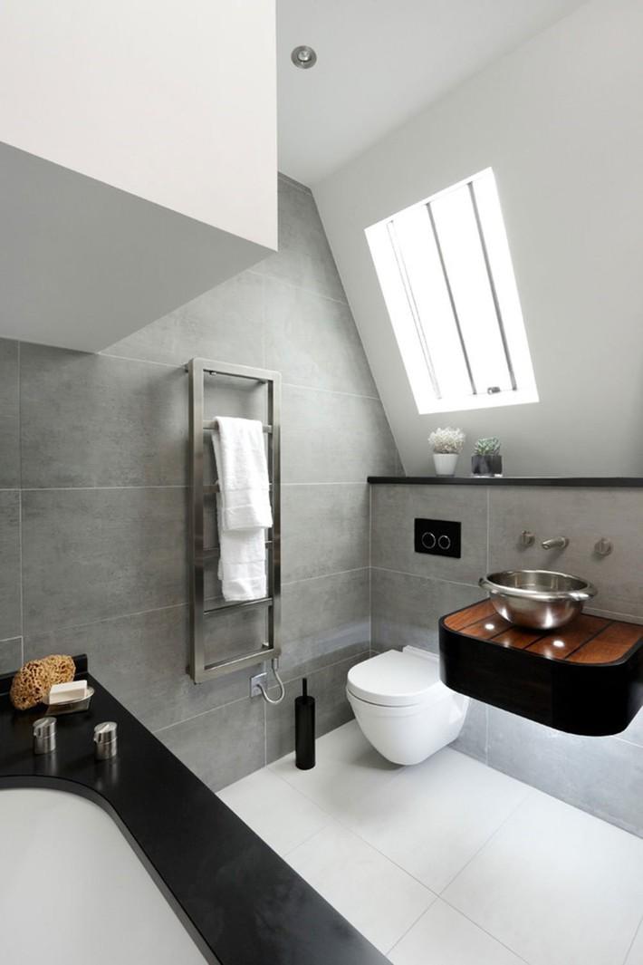 Tận dụng gác mái làm phòng tắm, ý tưởng thiết kế vừa đẹp vừa độc đáo ngại gì mà không thử - Ảnh 6.