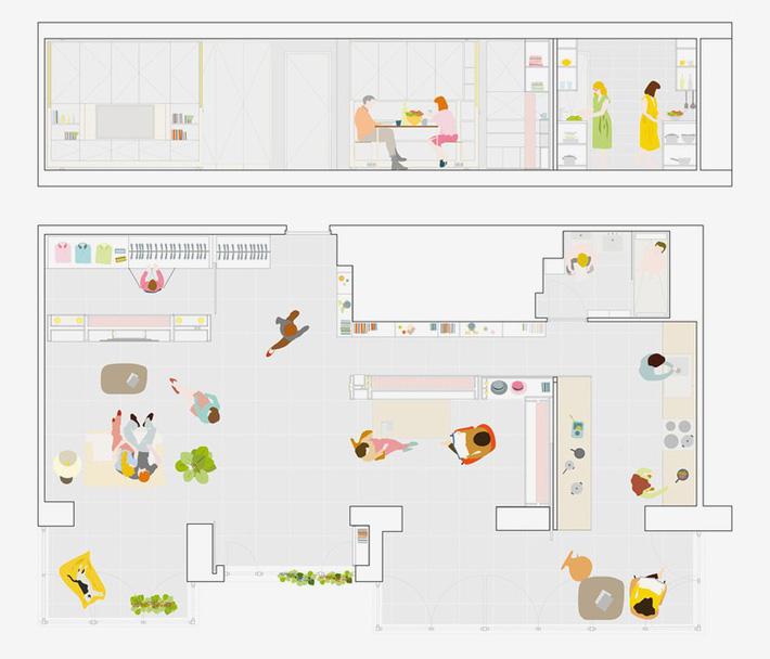 Tường xoay cho phép căn hộ này thay đổi bố cục chỉ trong vài phút - Ảnh 13.