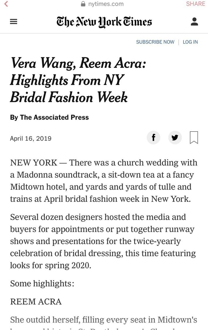 BST váy cưới PHUONG MY xuất hiện trên hàng loạt báo Mỹ sau New York Fashion Week Bridal - Ảnh 3.