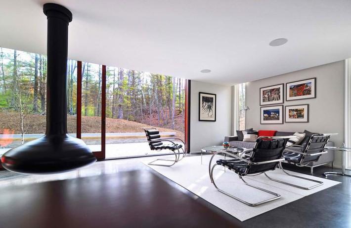 Ấn tượng với ngôi nhà bằng gỗ và kính của cặp vợ chồng thiết kế đồ họa - Ảnh 10.