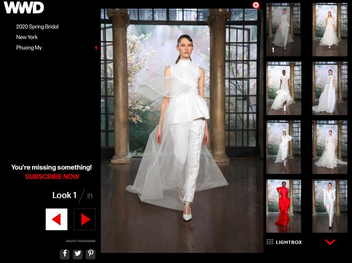 BST váy cưới PHUONG MY xuất hiện trên hàng loạt báo Mỹ sau New York Fashion Week Bridal - Ảnh 4.