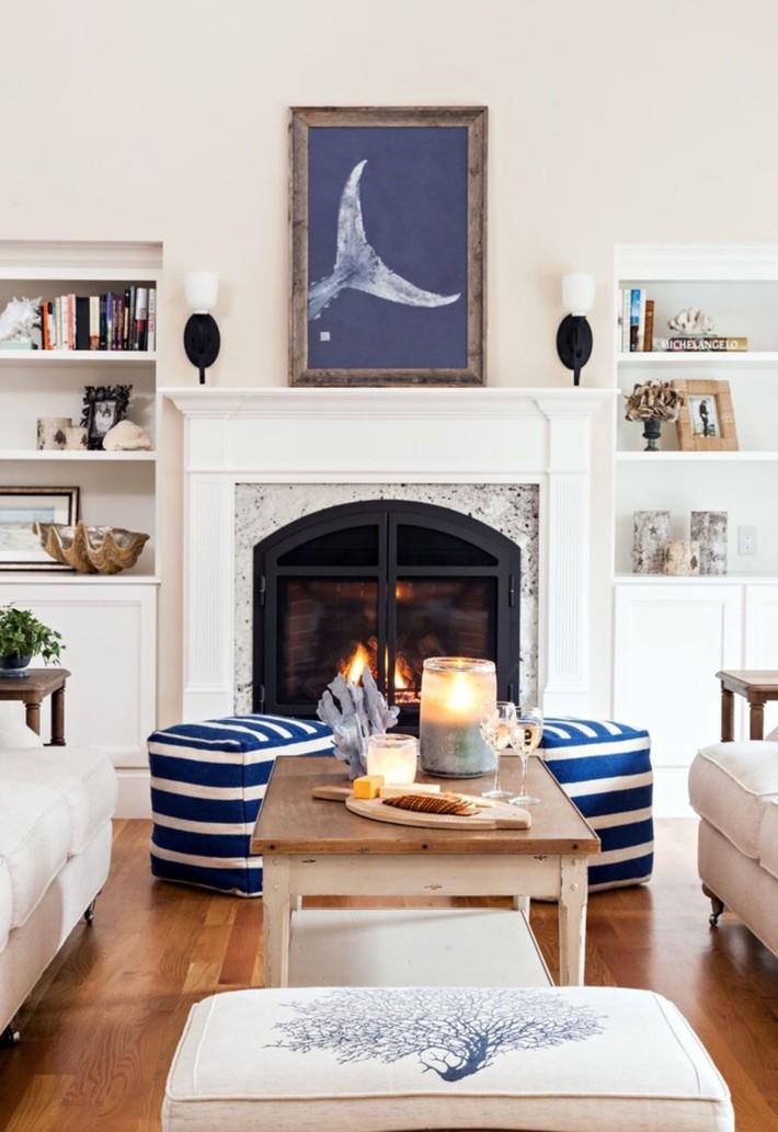 Mùa hè tới rồi, ngại ngần gì mà không thử đem cả biển xanh vào trang trí phòng khách nhà mình cho mát mẻ - Ảnh 10.