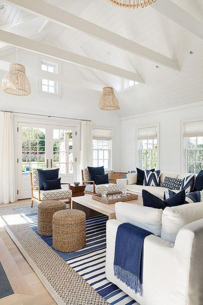 Mùa hè tới rồi, ngại ngần gì mà không thử đem cả biển xanh vào trang trí phòng khách nhà mình cho mát mẻ - Ảnh 11.