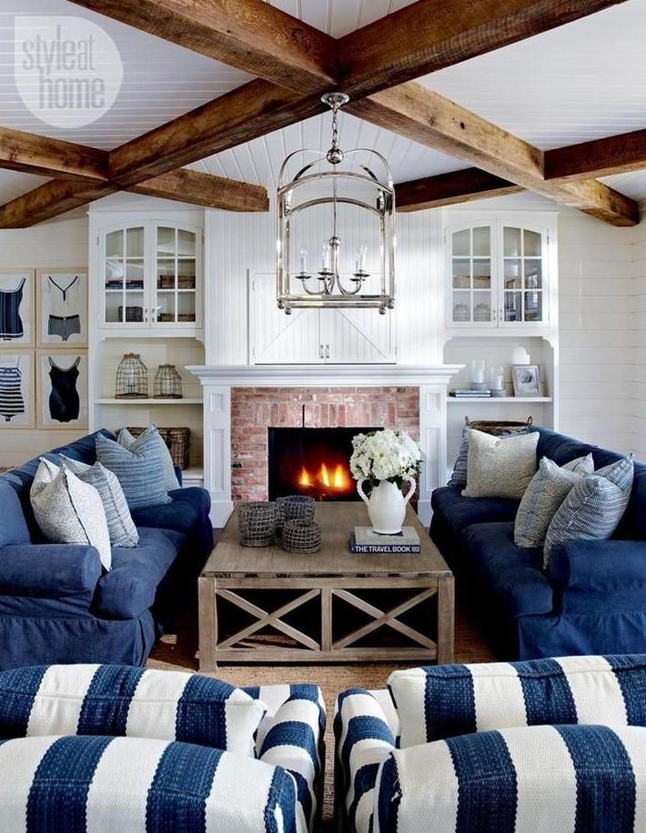 Mùa hè tới rồi, ngại ngần gì mà không thử đem cả biển xanh vào trang trí phòng khách nhà mình cho mát mẻ - Ảnh 12.
