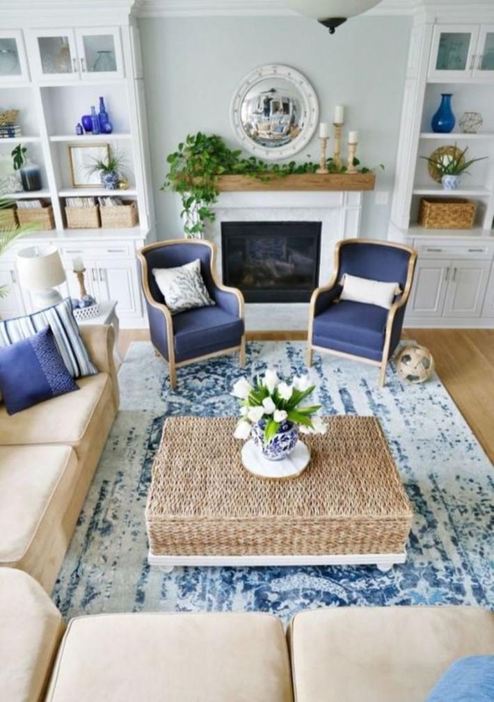 Mùa hè tới rồi, ngại ngần gì mà không thử đem cả biển xanh vào trang trí phòng khách nhà mình cho mát mẻ - Ảnh 13.