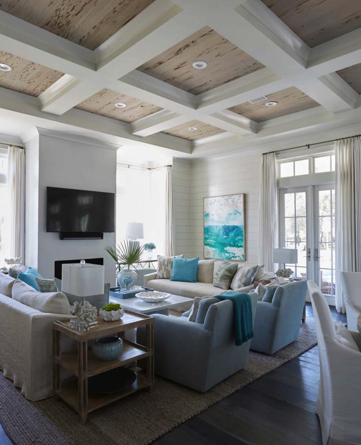 Mùa hè tới rồi, ngại ngần gì mà không thử đem cả biển xanh vào trang trí phòng khách nhà mình cho mát mẻ - Ảnh 3.