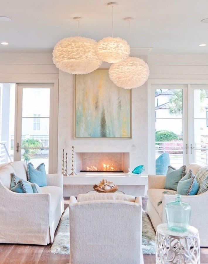 Mùa hè tới rồi, ngại ngần gì mà không thử đem cả biển xanh vào trang trí phòng khách nhà mình cho mát mẻ - Ảnh 5.