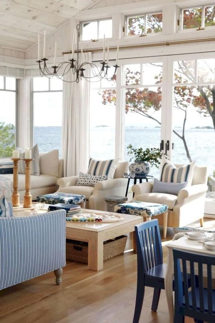 Mùa hè tới rồi, ngại ngần gì mà không thử đem cả biển xanh vào trang trí phòng khách nhà mình cho mát mẻ - Ảnh 6.