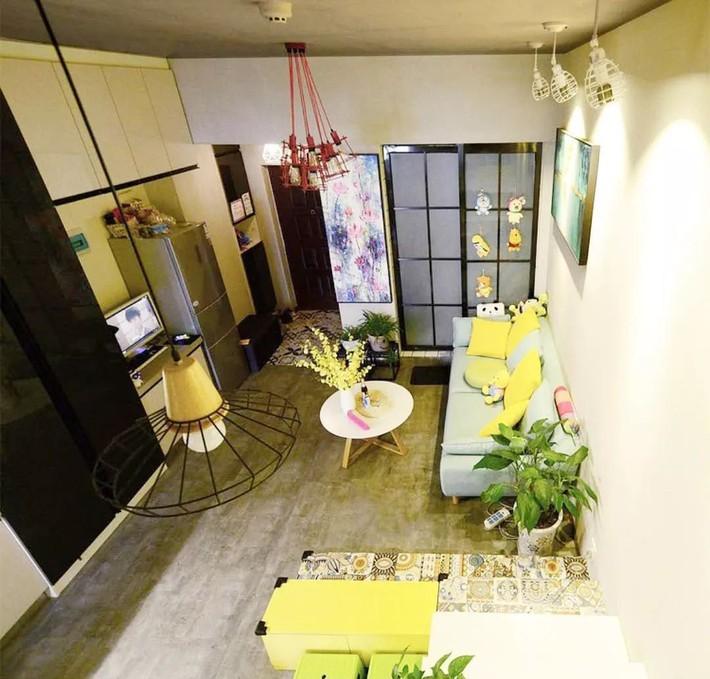 Nhà tập thể 35m² được thiết kế thông minh với 2 phòng ngủ dành cho gia đình 3 người - Ảnh 2.