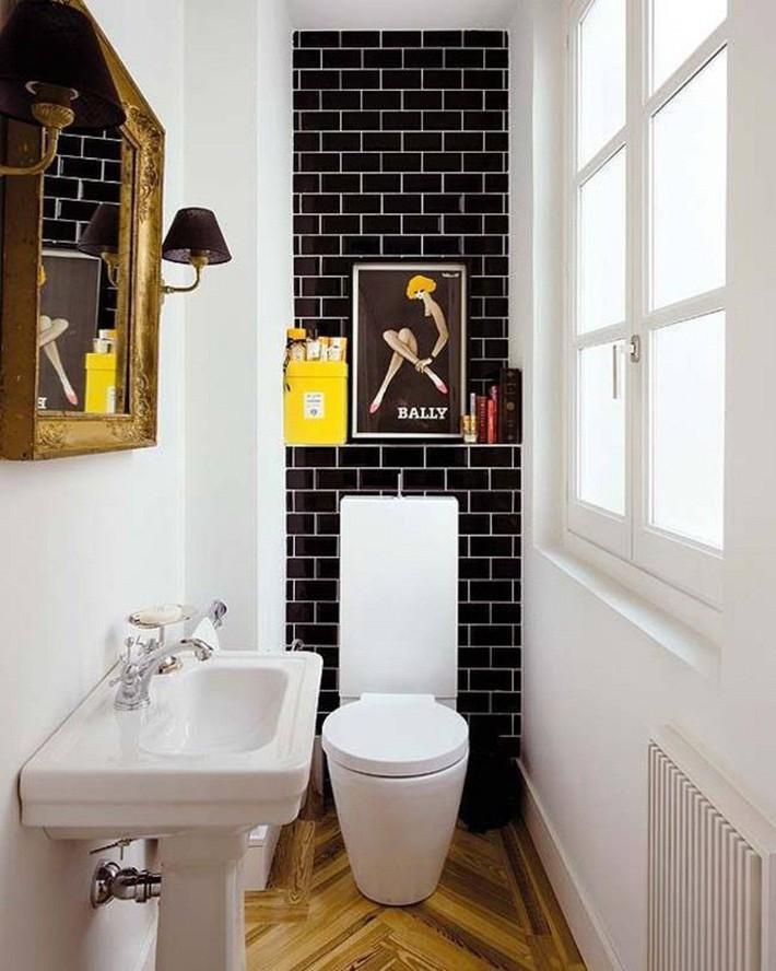 Những mẫu nhà tắm đen – trắng ấn tượng chưa từng lỗi mốt - Ảnh 6.