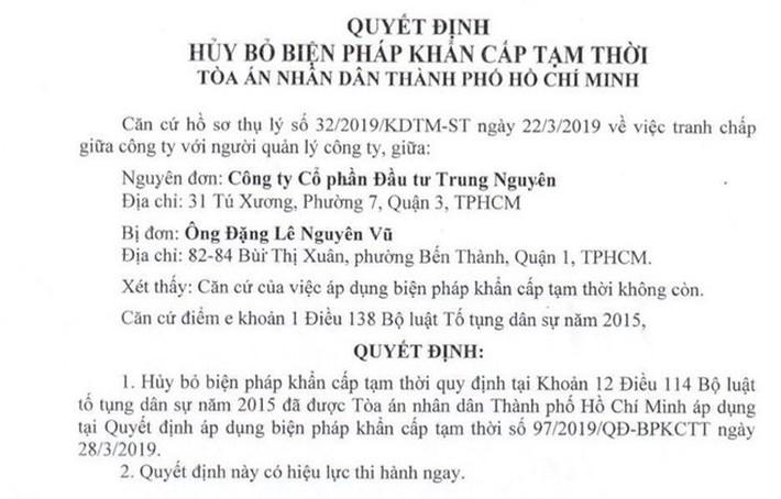 Khiếu nại của ông Đặng Lê Nguyên Vũ được tòa án chấp nhận - Ảnh 2.