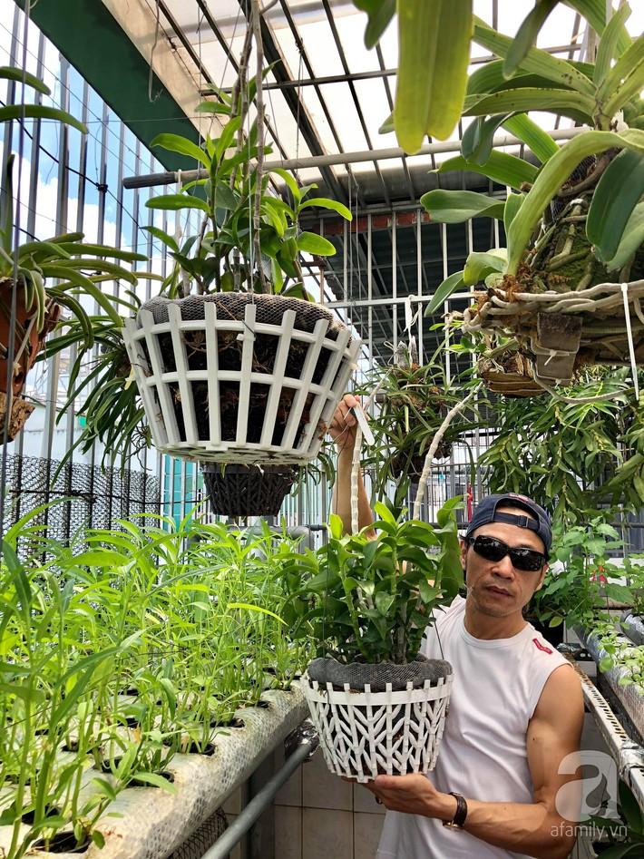 Khu vườn sân thượng xanh mướt rau sạch của người đàn ông chăm chỉ trồng cho gia đình ở Sài Gòn - Ảnh 1.