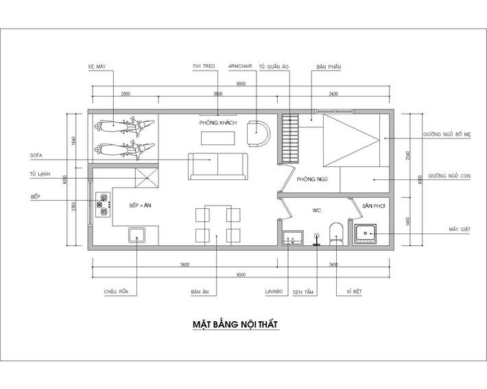 Tư vấn thiết kế nhà cấp 4 diện tích 36m² cho đôi vợ chồng trẻ có kinh phí hạn hẹp - Ảnh 1.