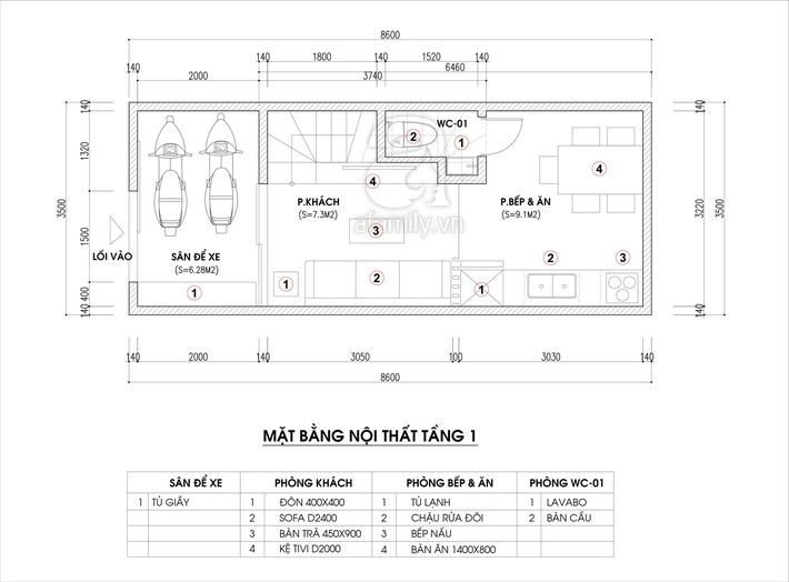 Tư vấn thiết kế nhà ống hẹp với diện tích 30m² cho gia đình 5 người ở đủ sáng và hợp phong thủy - Ảnh 1.