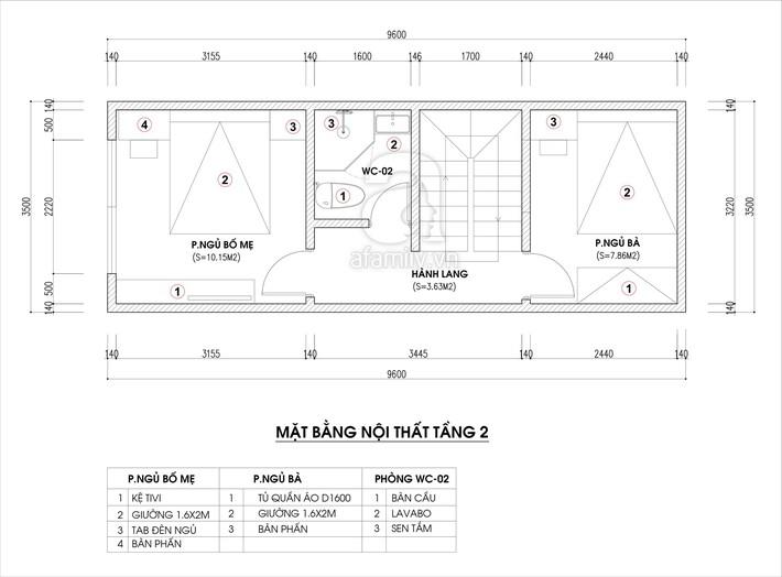 Tư vấn thiết kế nhà ống hẹp với diện tích 30m² cho gia đình 5 người ở đủ sáng và hợp phong thủy - Ảnh 2.