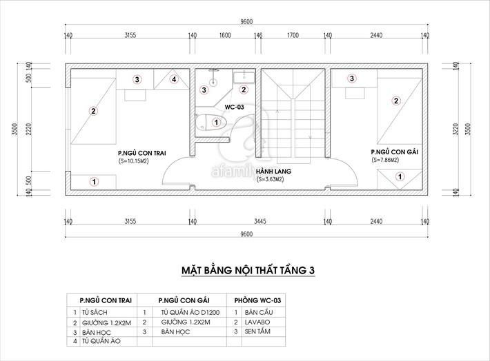 Tư vấn thiết kế nhà ống hẹp với diện tích 30m² cho gia đình 5 người ở đủ sáng và hợp phong thủy - Ảnh 3.