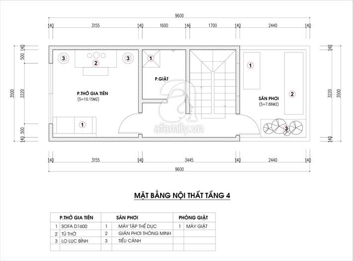 Tư vấn thiết kế nhà ống hẹp với diện tích 30m² cho gia đình 5 người ở đủ sáng và hợp phong thủy - Ảnh 4.