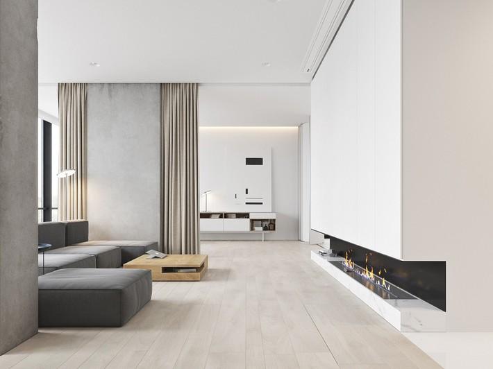 Căn hộ tối giản nhưng vẫn cực kỳ hiện đại và thu hút bởi sắc trắng thanh lịch - Ảnh 1.