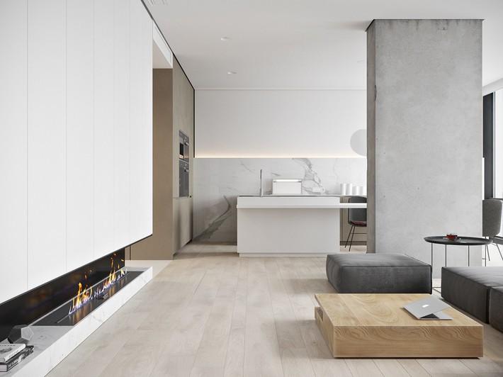 Căn hộ tối giản nhưng vẫn cực kỳ hiện đại và thu hút bởi sắc trắng thanh lịch - Ảnh 2.