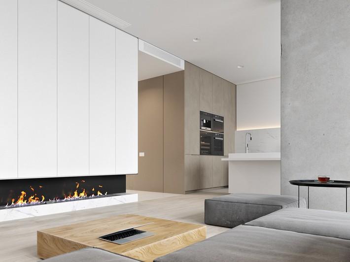 Căn hộ tối giản nhưng vẫn cực kỳ hiện đại và thu hút bởi sắc trắng thanh lịch - Ảnh 3.