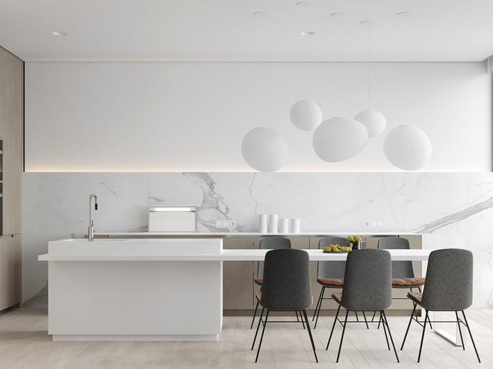 Căn hộ tối giản nhưng vẫn cực kỳ hiện đại và thu hút bởi sắc trắng thanh lịch - Ảnh 6.