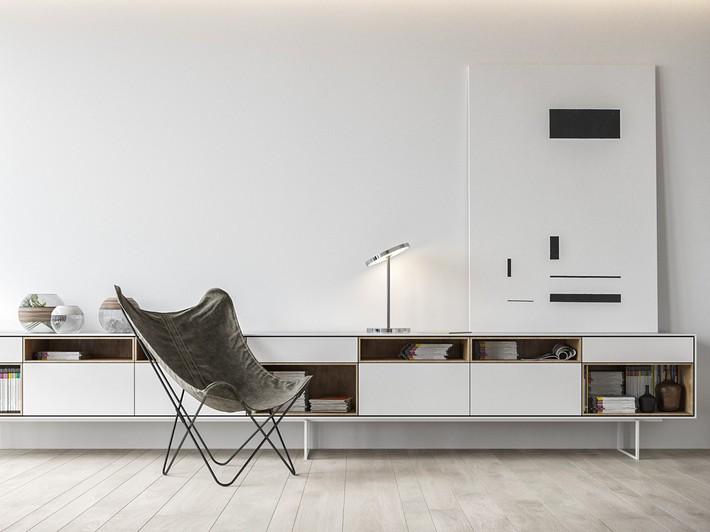 Căn hộ tối giản nhưng vẫn cực kỳ hiện đại và thu hút bởi sắc trắng thanh lịch - Ảnh 8.