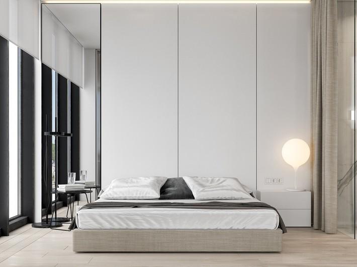 Căn hộ tối giản nhưng vẫn cực kỳ hiện đại và thu hút bởi sắc trắng thanh lịch - Ảnh 9.