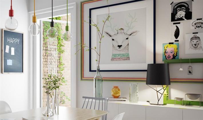 Học tập cách trang trí nội thất trong nhà tươi sáng theo phong cách Bắc Âu - Ảnh 10.