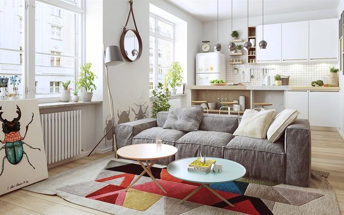 Học tập cách trang trí nội thất trong nhà tươi sáng theo phong cách Bắc Âu - Ảnh 12.