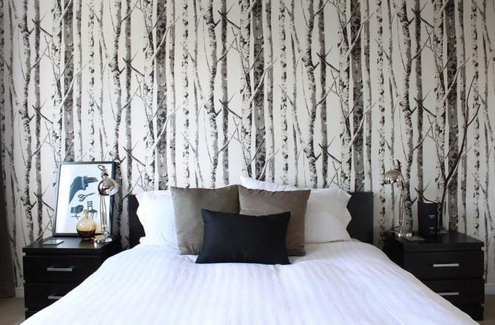 Trang trí phòng ngủ ấn tượng nhờ giấy dán tường chân thực đến khó tin - Ảnh 4.