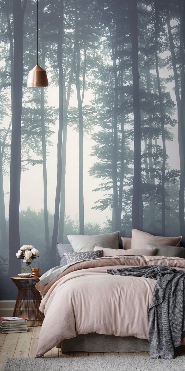 Trang trí phòng ngủ ấn tượng nhờ giấy dán tường chân thực đến khó tin - Ảnh 2.