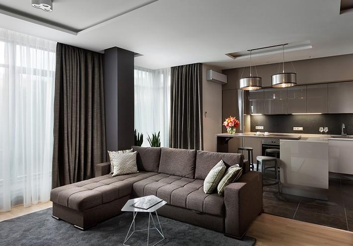 Trầm trồ với cách bài trí căn hộ nhỏ nhưng cực sang và thời trang - Ảnh 2.