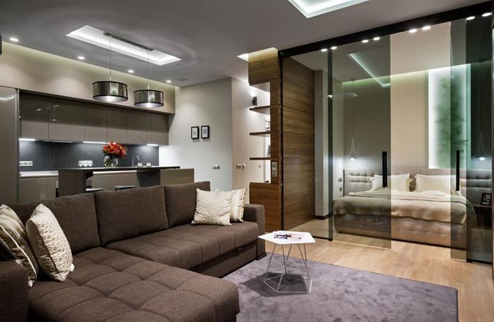 Trầm trồ với cách bài trí căn hộ nhỏ nhưng cực sang và thời trang - Ảnh 6.